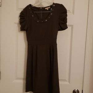 Sz S Be-Bop olive green dress with studs